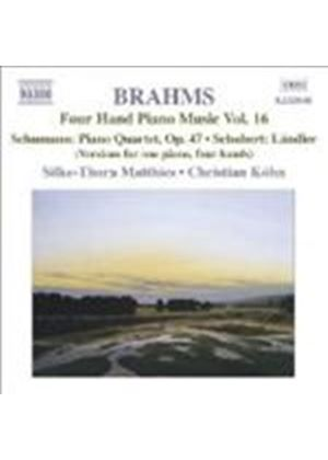 Brahms: Four-Hand Piano Works, Vol 16