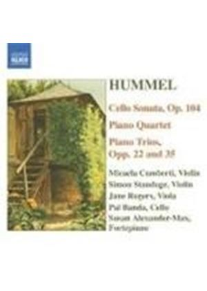 Hummel: Cello Sonata; Piano Quartet; Piano Trios