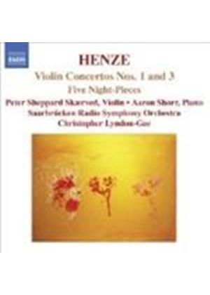 Henze: Violin Concertos Nos 1 and 3