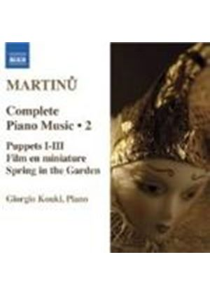 Bohuslav Martinu - Complete Piano Music Vol. 2 (Koukl) (Music CD)