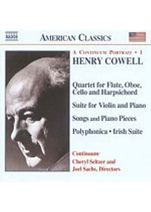 Henry Cowell - A Continuum Portrait 1 (Sachs, Seltzer, Continuum) (Music CD)