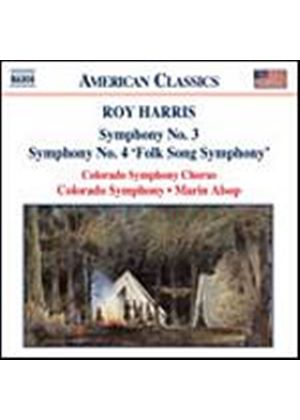 Roy Harris - Symphonies Nos. 3 And 4 Folk Song Symphony (Alsop) (Music CD)
