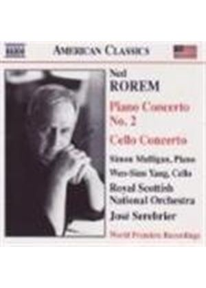 Ned Rorem - Piano Concerto No. 2, Cello Concerto (Serebrier, RSNO) (Music CD)