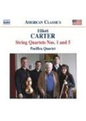 Elliott Carter - String Quartets Nos. 1 And 5 (Pacifica Quartet) (Music CD)