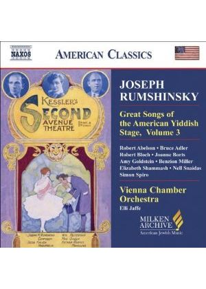 Various Composers - Great Songs Of The Yiddish Stage, Vol. 3 (Jaffe, Vienna CO) (Music CD)