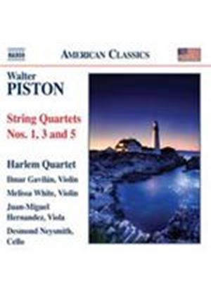 Piston: String Quartets Nos. 1, 3 and 5 (Music CD)