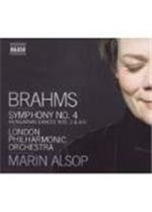 Johannes Brahms - Symphony No. 4, Hungarian Dances (Alsop, LPO) (Music CD)