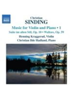 Sinding: Music For Violin And Piano Vol. 1 (Music CD)