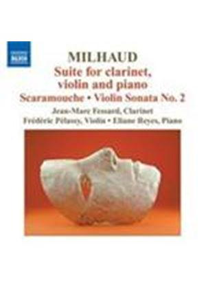 Milhaud: Suite for Clarinet, Violin & Piano; Scaramouche (Music CD)