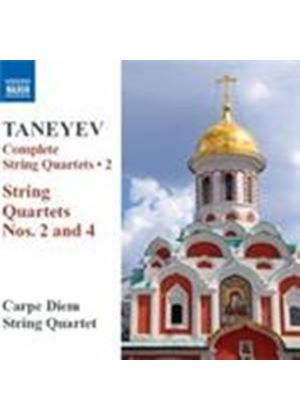 Taneyev: String Quartets Nos 2 & 4 (Music CD)