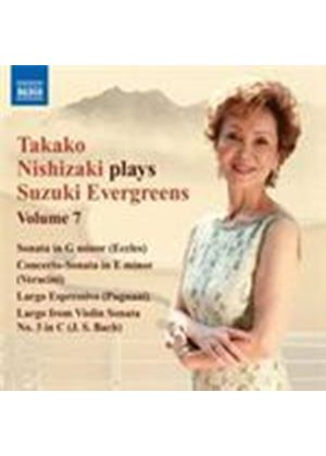 Takako Nishizaki Plays Suzuki Evergreens Vol.7 - Eccles, Bach, Veracini Violin Sonatas (Music CD)