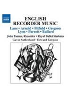 English Recorder Works (Music CD)