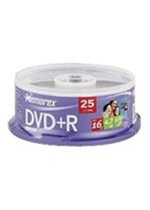 Memorex - 25 x DVD+R - 4.7 GB ( 120min ) 16x - spindle - storage media
