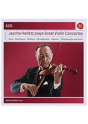 Jascha Heifetz Plays Great Violin Concertos (Music CD)