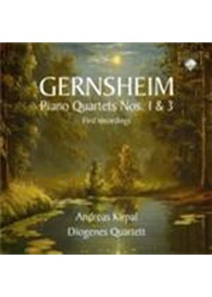 Gernsheim: Piano Quartets Nos 1 and 3 (Music CD)