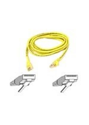 Belkin - Patch cable - RJ-45 (M) - RJ-45 (M) - 10 m - ( CAT 5e ) - yellow