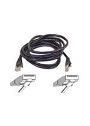 Belkin - Patch cable - RJ-45 (M) - RJ-45 (M) - 15 m - ( CAT 5e ) - black