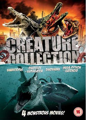 Creature Collection - Sharktopus / Dinoshark / Dinocroc Vs Supergator / Mega Python Vs Gatoroid