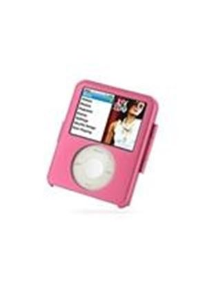 PDair Aluminum Metal Case for Apple New iPod nano 3rd (4GB/8GB)(Neck Strap Included) (Pink)
