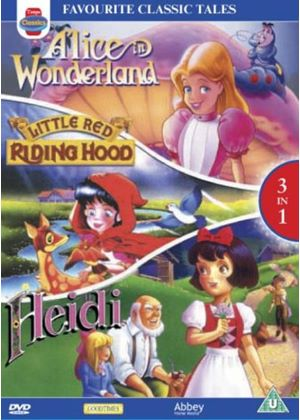 Alice In Wonderland, Little Red Riding Hood,Heidi. (Animated)