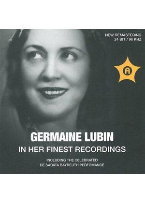 Germaine Lubin in her finest recordings (Music CD)