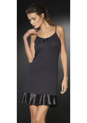 Satin Seduction Slipdress in Black