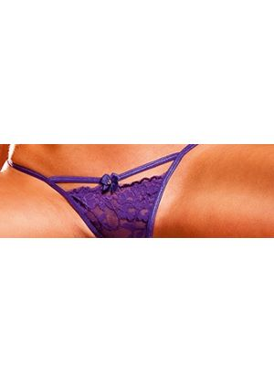 Lace G-String with bow