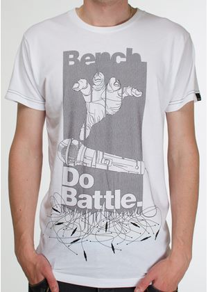 Do Battle Printed T-Shirt in White
