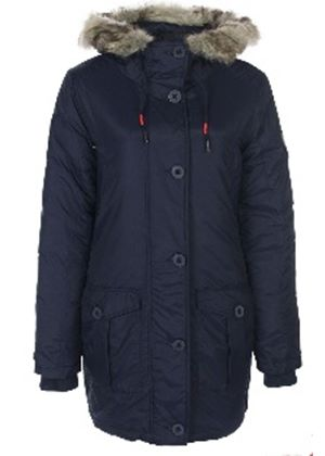 Greeland Coat with Fur Lined Hood