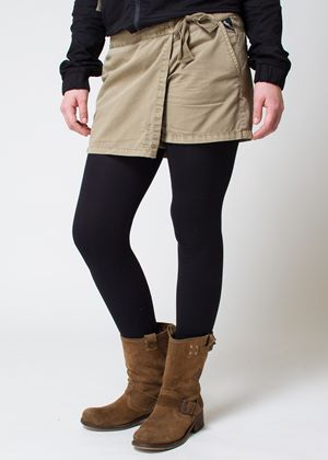 Basset Casual Short with Skirt Style Wrap Panel