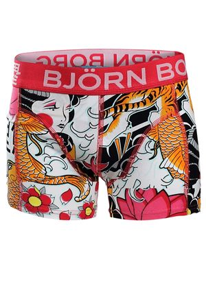 Kuma Toride Boxer Shorts In Rose Red