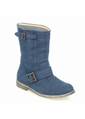 The Twisted Sister Boot in Denim