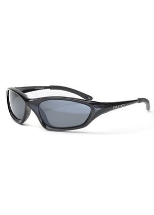 Cobra in Shiny Black Polarised Sunglasses