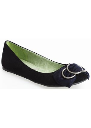 Sassa Flat in Black Denim