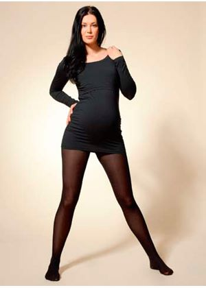 2 Pack Maternity Tights In Black