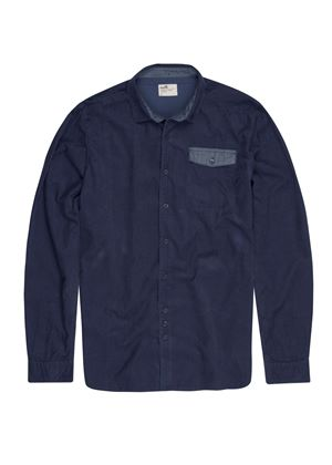 Carlyn Long Sleeve Corduroy Shirt in Navy Cord