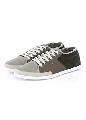 Sparko Combo in Grey Leather/Canvas