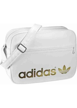 Adidas Originals Airline Bag In White and Gold