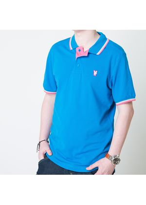 Mens 'Bishop' Polo Shirt in Turquoise