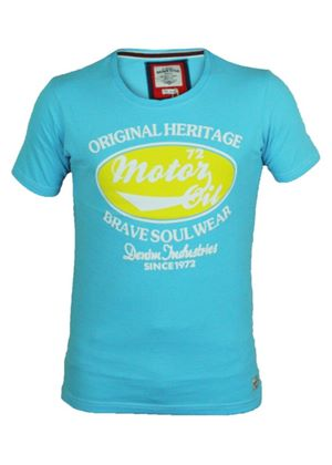 Mens 'Ludlow' T-shirt in Turquoise