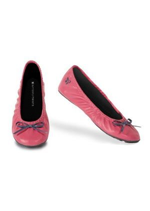 Victoria in Faux Leather in Pink / Navy