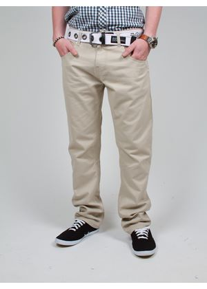 Mens Twill Techno Straight Fit Chino With Belt