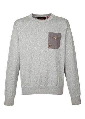 Wright Sweater in Light Grey Marl