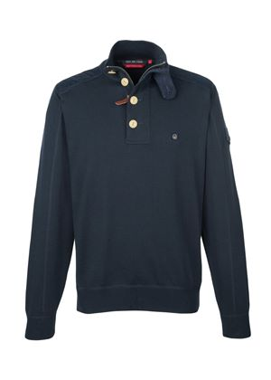 Howard Sweater in Blue Black