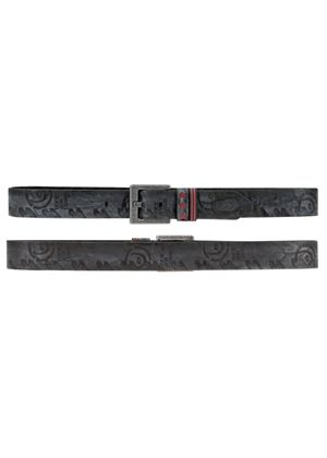 Black Leather Duck and Cover Belt