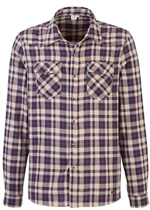 Dissaray Checked Shirt in Pebble