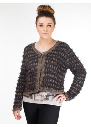 Luna Hand Knitted Cropped Cardigan
