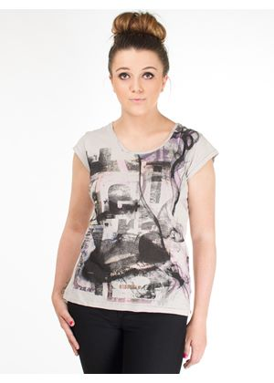 Dionne Button Back Top in Mist