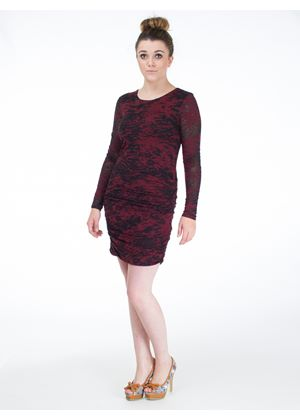 Agnes Jersey Dress in Red & Black