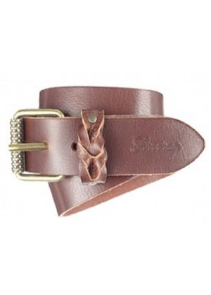 Couper Leather Branded Belt in Brown